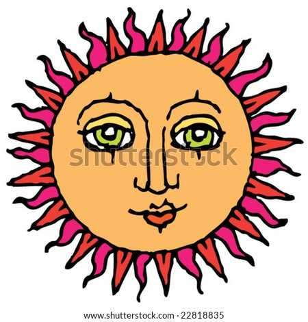 sun with green eyes