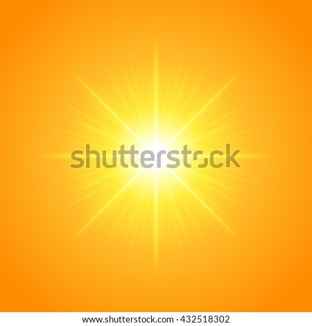 sun with lens flare lights