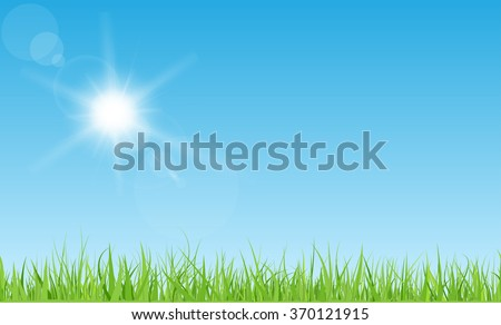 sun with rays and flares on
