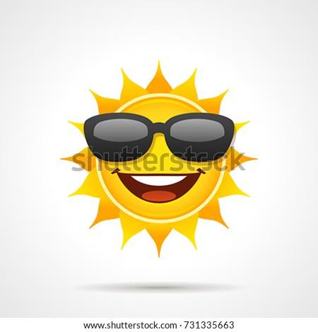sun with sunglasses. vector ...