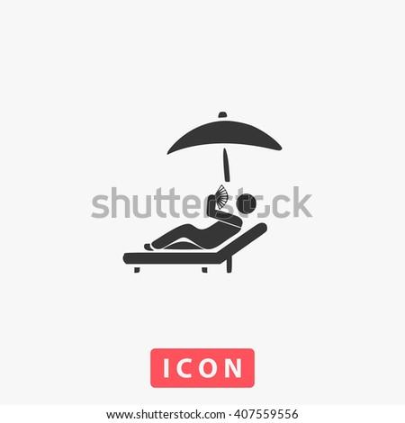 sunbathe icon vector sunbathe
