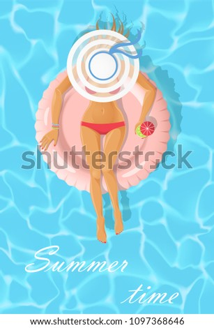 sunbathing young woman on a