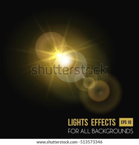 sunbeam shining through lens
