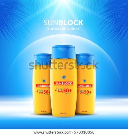 sunblock ads template  sun