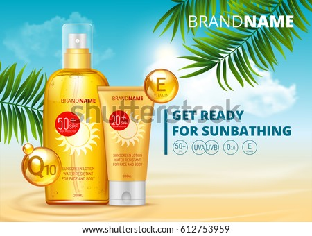 sunblock ads template  sun
