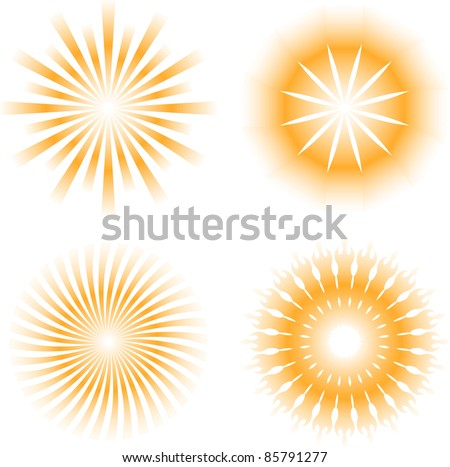 sunburdt abstract design elements