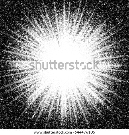 sunburst. abstract vector black ...
