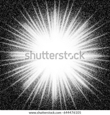 sunburst. abstract vector black ...