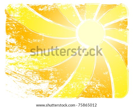 Sunburst And Abstract Backgrounds. Vector illustration