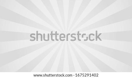 Sunburst background with grey rays. Abstract summer sun shine. Grey colors. Flat vector illustration Stock photo ©