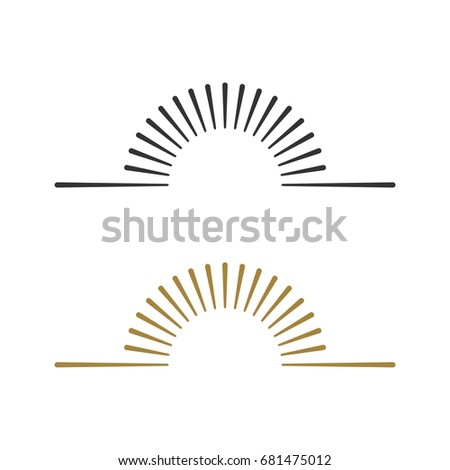 sunburst line logo template