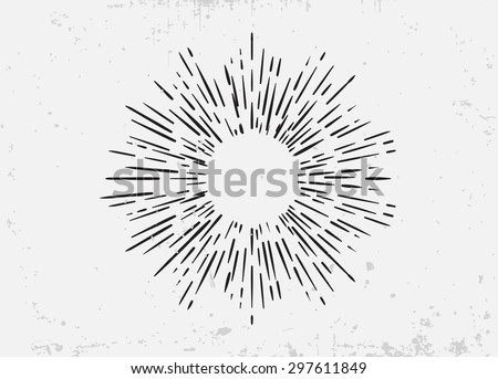 sunburst on starburst element