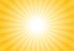 Sunburst vector with gold theme.