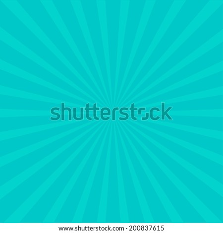 Sunburst with ray of light. Template.  Blue background. Vector illustration