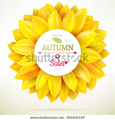 sunflower autumn sale eps 10