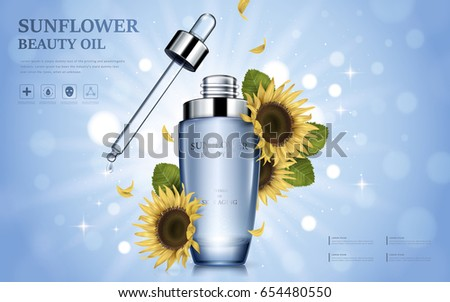 sunflower beauty oil contained
