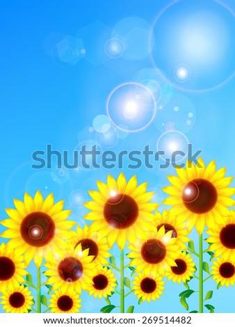 Sunflower flower background