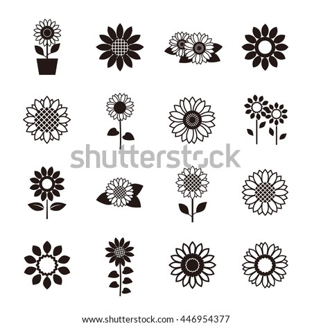stock-vector-sunflower-icon-set