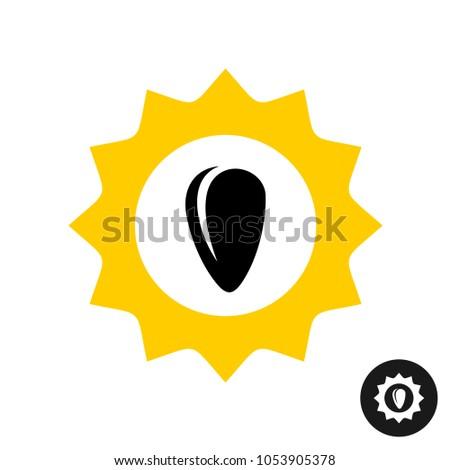sunflower logo with seed sun