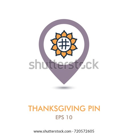 sunflower mapping pin icon