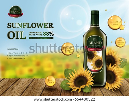 sunflower oil contained in