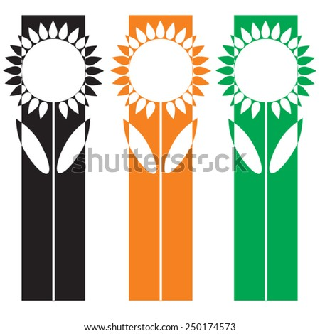 sunflower sign logo element 1