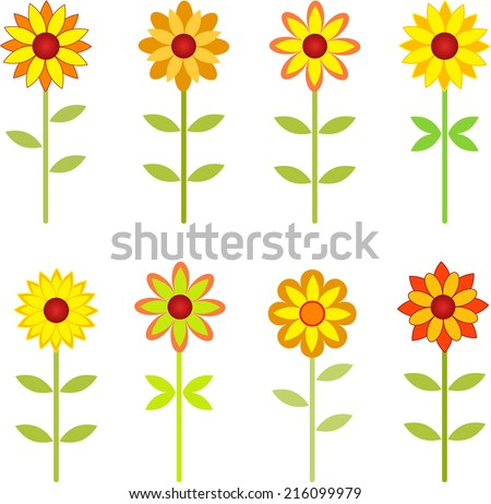 Sunflowers, Fall Flowers, Sunflower Vector