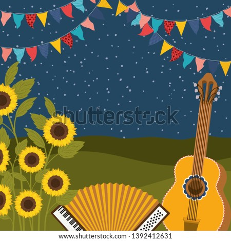 sunflowers with music
