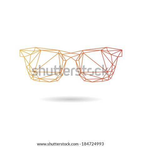 Sunglasses abstract isolated on a white backgrounds, vector illustration