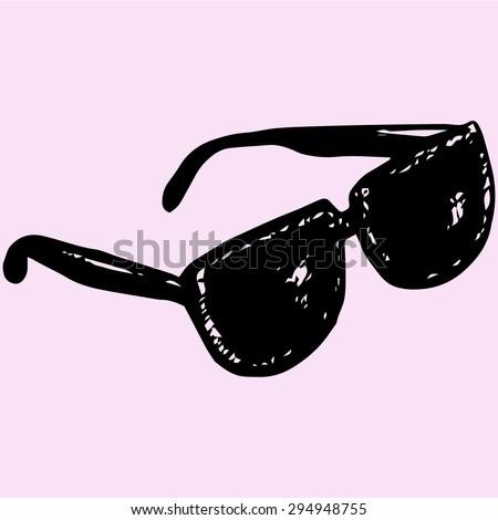 sunglasses  doodle style