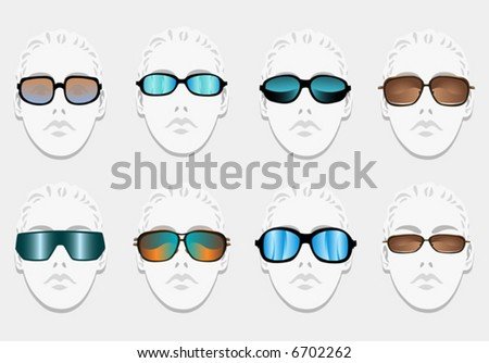 sunglasses fashion - stock vector