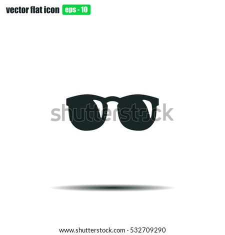 Shutterstock Sunglasses icon vector illustration