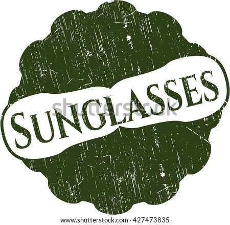 Sunglasses rubber grunge stamp