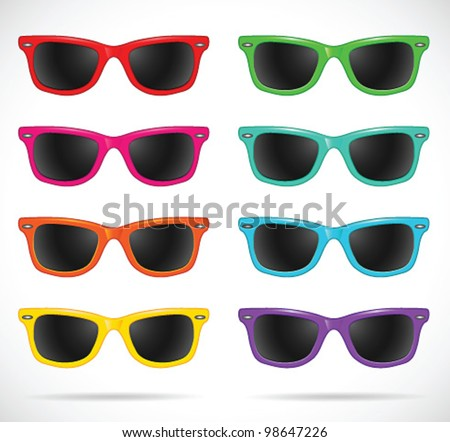 sunglasses set  wayfarer shape