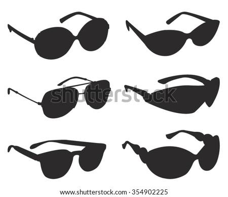 sunglasses silhouette  vector