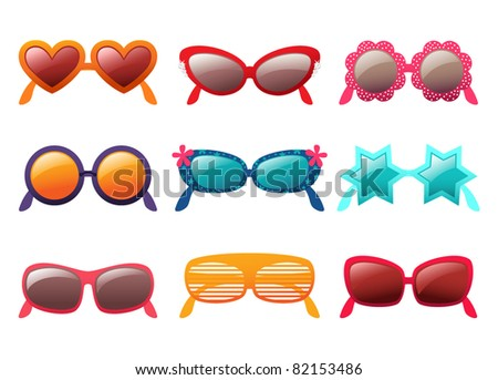 sunglasses vector set