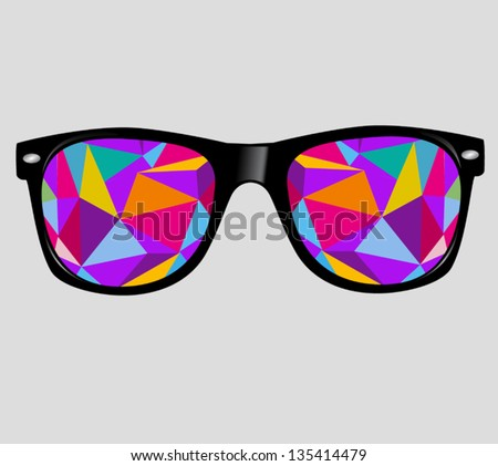 sunglasses with abstract