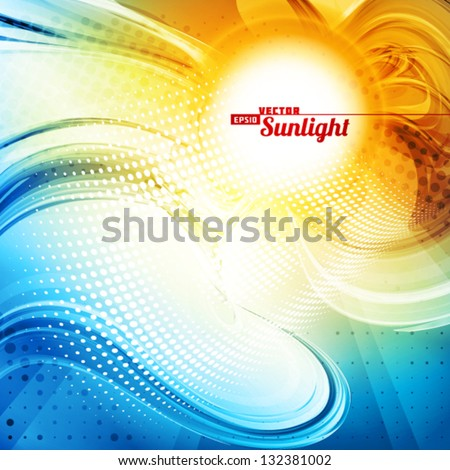 stock-vector-sunlight-abstract-artistic-background-vector
