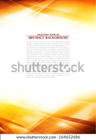 Sunlight. Abstract background with lighting effect. Vector