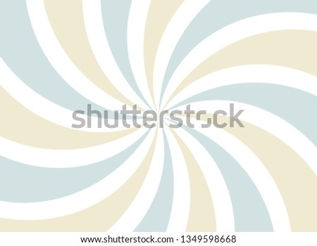 Sunlight abstract wide background. faded blue,white  and beige color burst background. Vector illustration. Sun beam ray sunburst pattern background. Retro circus backdrop.