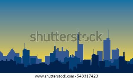sunlight cityscape silhouette