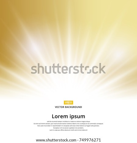 sunlight effect sparkle on gold