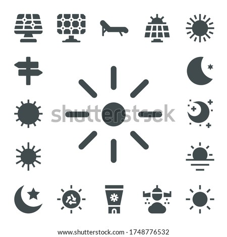 sunlight icon set 17 filled