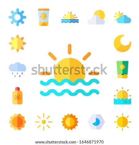 sunlight icon set 17 flat