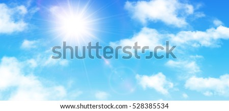sunny background  blue sky with