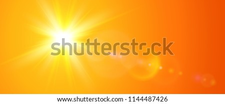 sunny background  orange sun