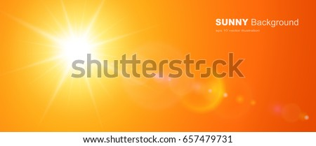 sunny background  orange sun