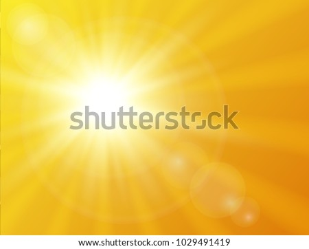 Sunny background. Vector sunshine background Summer design.