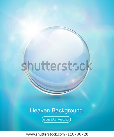 sunny blue background  with