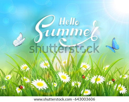 sunny blue sky background with